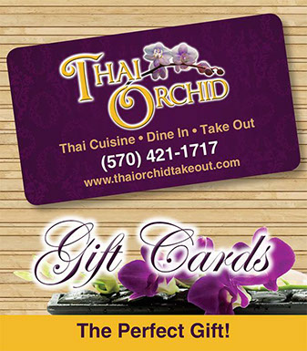Thai Orchid Gift Certificates